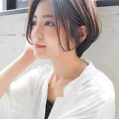 ショート 大人かわいい ナチュラル デート ヘアスタイルや髪型の写真・画像