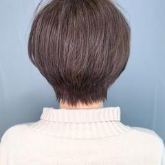 艶髪 大人かわいい ショート 簡単スタイリング ヘアスタイルや髪型の写真・画像
