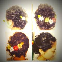 ナチュラル ヘアアレンジ ゆるふわ 簡単ヘアアレンジ ヘアスタイルや髪型の写真・画像
