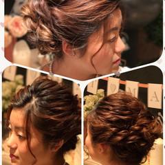 ロング 結婚式 上品 ヘアアレンジ ヘアスタイルや髪型の写真・画像