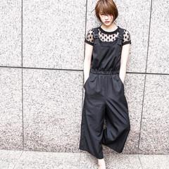 黒髪 ショート エフォートレス 外国人風 ヘアスタイルや髪型の写真・画像