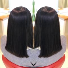セミロング アディクシーカラー 髪質改善トリートメント イルミナカラー ヘアスタイルや髪型の写真・画像