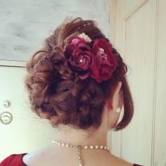 結婚式 モテ髪 ヘアアレンジ クラシカル ヘアスタイルや髪型の写真・画像