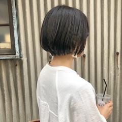 透明感カラー ナチュラル ショート 暗髪 ヘアスタイルや髪型の写真・画像