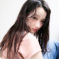 パーマ モード フェミニン ロング ヘアスタイルや髪型の写真・画像