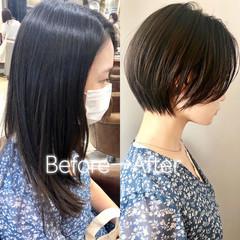 ショートヘア ナチュラル ショート ベリーショート ヘアスタイルや髪型の写真・画像