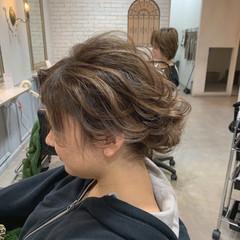 シニヨン ハイライト ヘアアレンジ 結婚式ヘアアレンジ ヘアスタイルや髪型の写真・画像