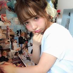 ハーフアップ ミディアム ピュア 夏 ヘアスタイルや髪型の写真・画像
