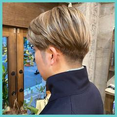 メンズ メンズショート メンズカラー ショート ヘアスタイルや髪型の写真・画像