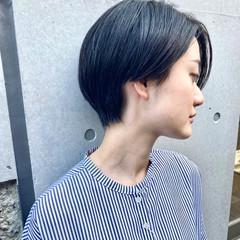 ナチュラル 黒髪ショート ショート ショートヘア ヘアスタイルや髪型の写真・画像