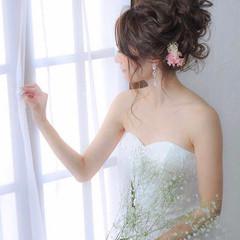 簡単ヘアアレンジ セミロング 結婚式 成人式 ヘアスタイルや髪型の写真・画像