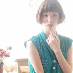 モテ髪 大人かわいい 外国人風 ボブ ヘアスタイルや髪型の写真・画像