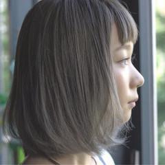オン眉 前髪あり ストリート ボブ ヘアスタイルや髪型の写真・画像