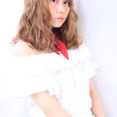 大人かわいい ミディアム フェミニン ガーリー ヘアスタイルや髪型の写真・画像