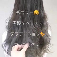 アッシュ モード 外国人風カラー 透明感 ヘアスタイルや髪型の写真・画像