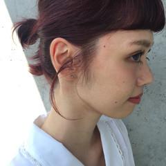 外国人風 ショート ガーリー 簡単ヘアアレンジ ヘアスタイルや髪型の写真・画像