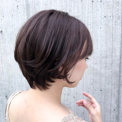 大人かわいい デート 涼しげ ショート ヘアスタイルや髪型の写真・画像
