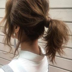 デート アンニュイ 外ハネ ヘアアレンジ ヘアスタイルや髪型の写真・画像