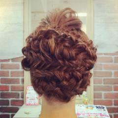 結婚式 ロング 編み込み 大人かわいい ヘアスタイルや髪型の写真・画像