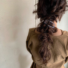 大人かわいい アンニュイほつれヘア 簡単ヘアアレンジ ナチュラル ヘアスタイルや髪型の写真・画像
