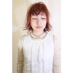 外ハネ ボブ 切りっぱなし 外国人風 ヘアスタイルや髪型の写真・画像