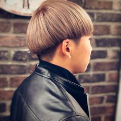 ミルクティー メンズ ショート 韓国 ヘアスタイルや髪型の写真・画像