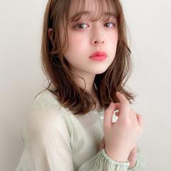 アンニュイほつれヘア ミディアム デジタルパーマ 大人可愛い ヘアスタイルや髪型の写真・画像