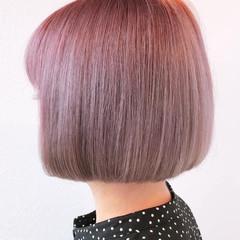 ボブ フェミニン 髪質改善 ブリーチカラー ヘアスタイルや髪型の写真・画像