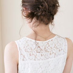 ミディアム 結婚式 大人かわいい ヘアアレンジ ヘアスタイルや髪型の写真・画像