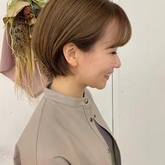 ショートボブ ショートヘア 透け感ヘア ショート ヘアスタイルや髪型の写真・画像