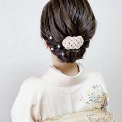 訪問着 ミディアム 着物 留袖 ヘアスタイルや髪型の写真・画像