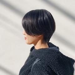 ショート ショートボブ ナチュラル ハンサムボブ ヘアスタイルや髪型の写真・画像