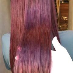 透明感 ピンク ロング 女子力 ヘアスタイルや髪型の写真・画像