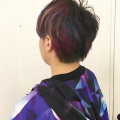 ハイトーン ショート ストリート 個性的 ヘアスタイルや髪型の写真・画像