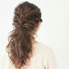 簡単ヘアアレンジ ショート フェミニン 上品 ヘアスタイルや髪型の写真・画像