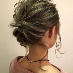 ヘアアレンジ グラデーションカラー ナチュラル 透明感 ヘアスタイルや髪型の写真・画像