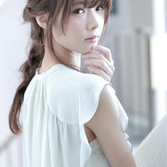 かわいい ハーフアップ 大人かわいい ルーズ ヘアスタイルや髪型の写真・画像