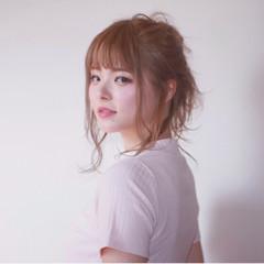 女子会 ルーズ 簡単ヘアアレンジ リラックス ヘアスタイルや髪型の写真・画像