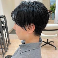 センターパート ハンサムショート ツーブロック メンズ ヘアスタイルや髪型の写真・画像