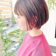 ショートボブ ショートヘア ナチュラル デート ヘアスタイルや髪型の写真・画像