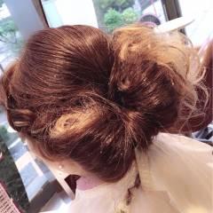 ヘアアレンジ セミロング ゆるふわ モテ髪 ヘアスタイルや髪型の写真・画像