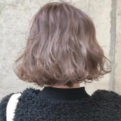 グレージュ グラデーションカラー 外国人風カラー ボブ ヘアスタイルや髪型の写真・画像
