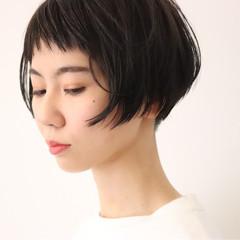 ショート 抜け感 ショートボブ ショートバング ヘアスタイルや髪型の写真・画像