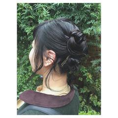 ヘアアレンジ 女子力 ショート 簡単ヘアアレンジ ヘアスタイルや髪型の写真・画像