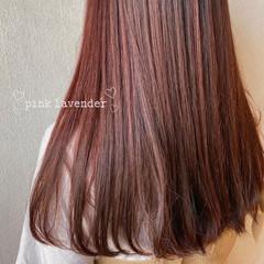 ピンクパープル ピンクバイオレット ラベンダーピンク ラベンダーアッシュ ヘアスタイルや髪型の写真・画像