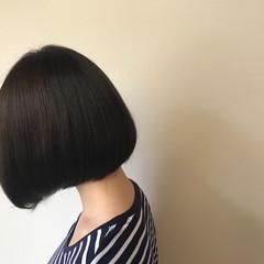 色気 黒髪 ナチュラル ボブ ヘアスタイルや髪型の写真・画像