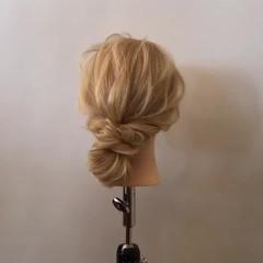 ヘアアレンジ 簡単ヘアアレンジ デート ロング ヘアスタイルや髪型の写真・画像
