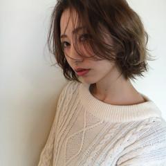 こなれ感 小顔 ショート 冬 ヘアスタイルや髪型の写真・画像