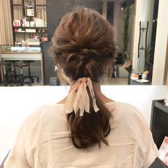 ショート ブルージュ ロング 簡単ヘアアレンジ ヘアスタイルや髪型の写真・画像
