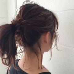 ストリート ゆるふわ マルサラ ヘアアレンジ ヘアスタイルや髪型の写真・画像